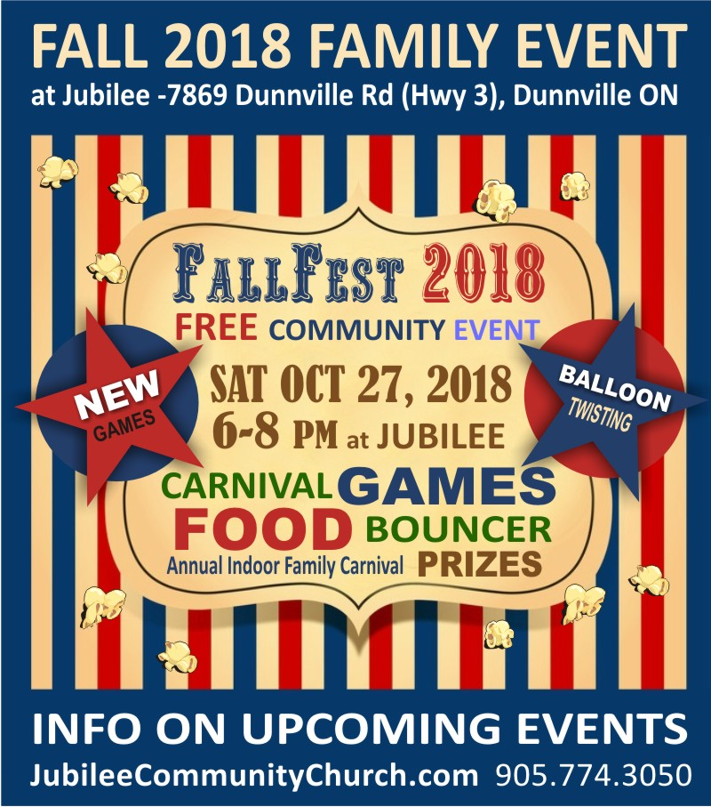 Fallfest Indoor Carnival Ad