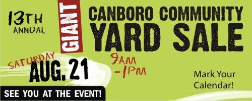 Community Yard Sale in Dunnville, Ontario