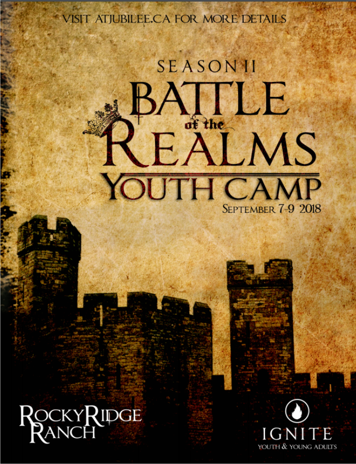 Jubilee Ignite Youth Camp 2018 Poster - Battle of the Realms Season 2