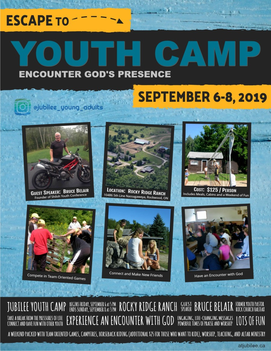 Jubilee Youth Camp 2019 Poster